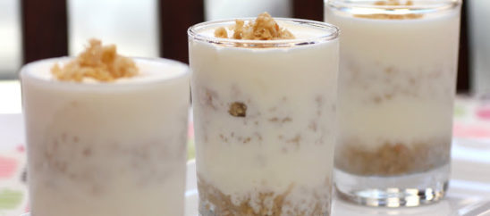 Nutty Vanilla Ice Cream Shooters