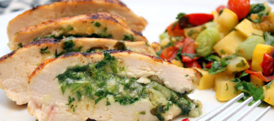 Pepper-Jack Chicken with Succotash