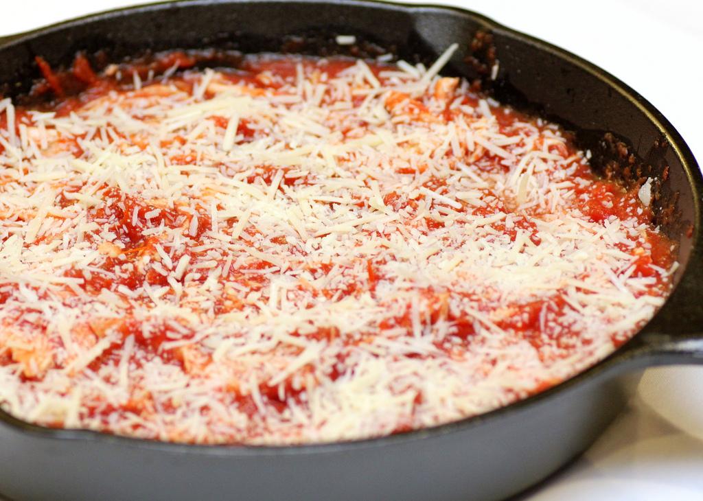 Chicken Parmesan Skillet Pot Pie - Recipe Snobs