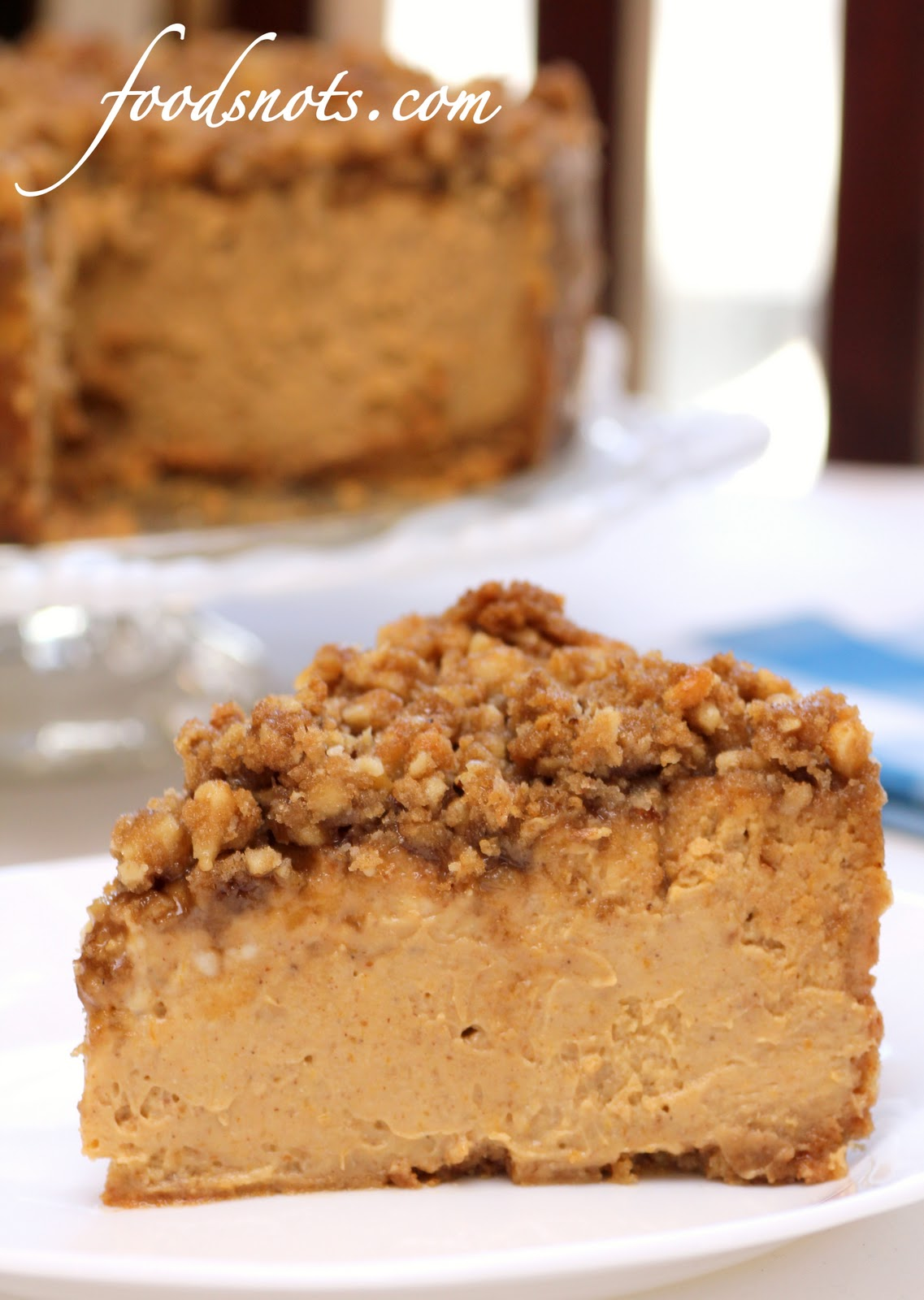 Pumpkin Walnut Cheesecake - Recipe Snobs