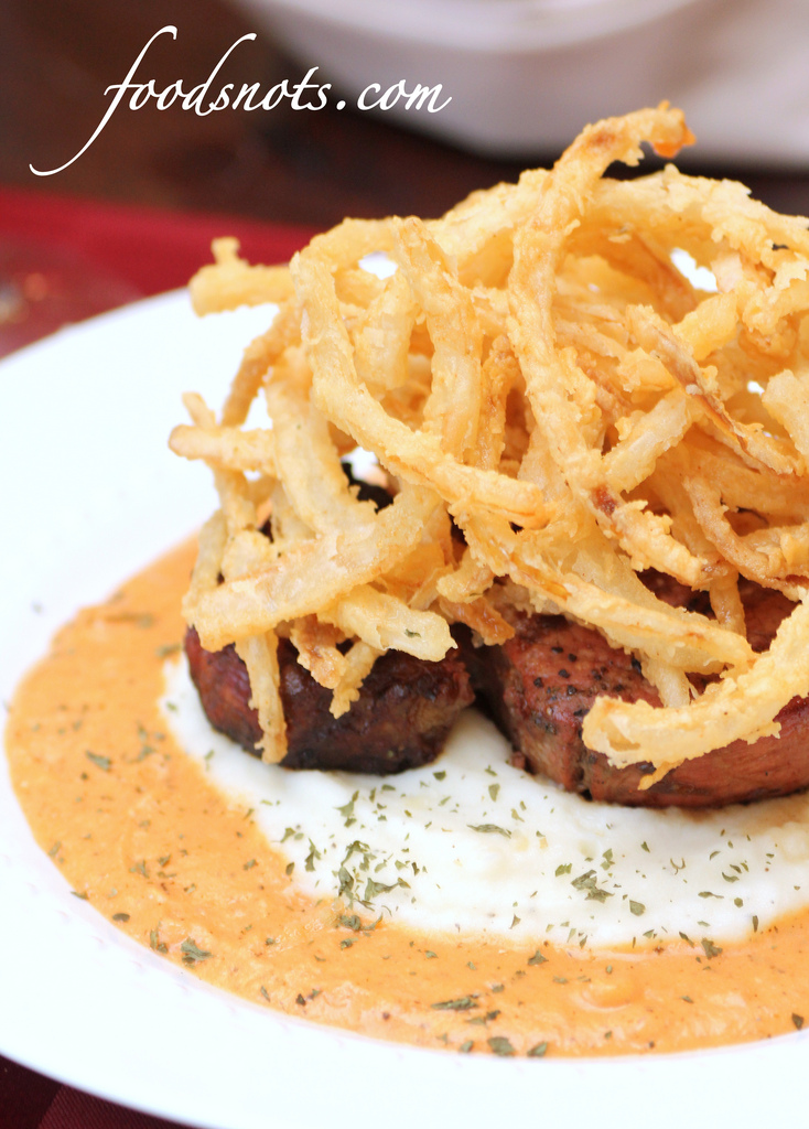 Filet Mignon with Roasted Red Pepper Cream Sauce, Mash ...