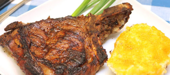 Grilled Marinated Steak with Twice Baked Potatoes