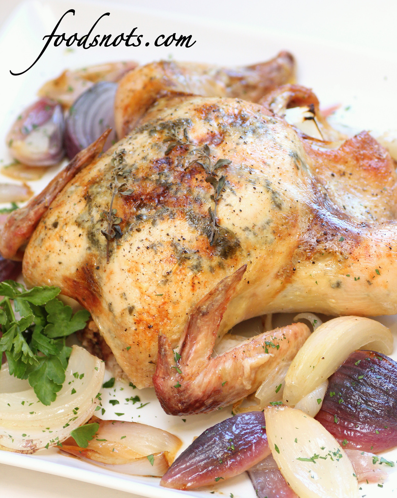 Roast Chicken With Fennel, Potatoes, And Citrus Recipe ...