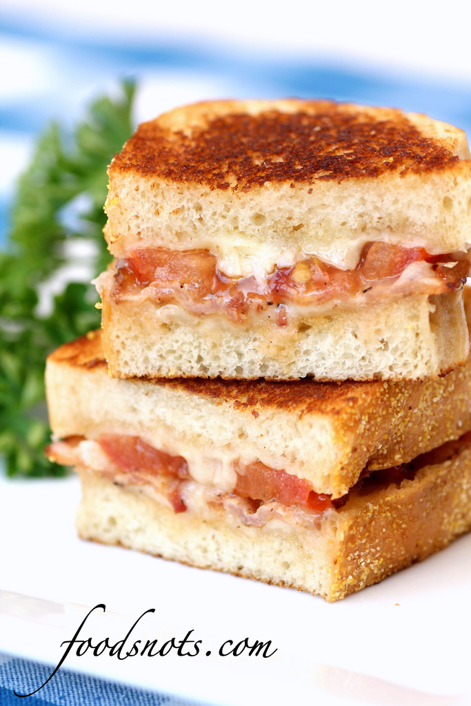 Garlic-Rubbed Grilled Cheese With Prosciutto And Tomatoes ...