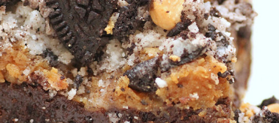 Double Peanut Butter Oreo Brownie Bars