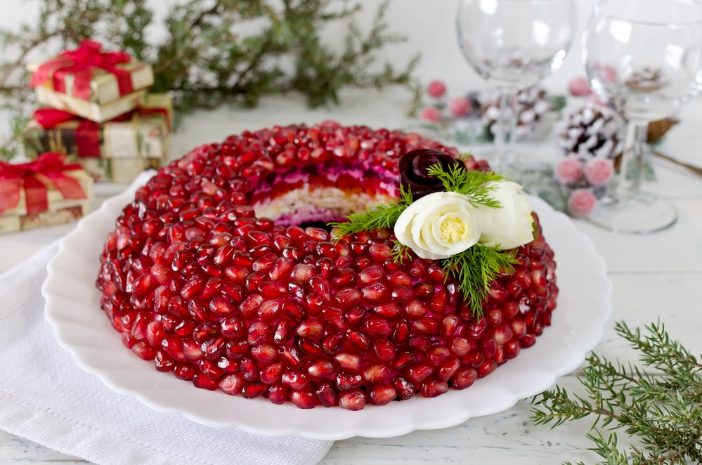 Pomegranate bracelet salad