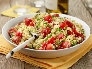 A salad with cuscus and nuts