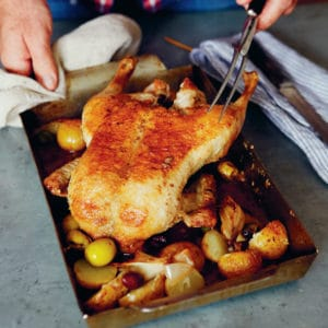 Bake and roast duck